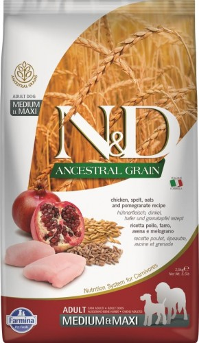 N&D Ancestral Dog Chicken & Pomegranate Adult Medium & Maxi